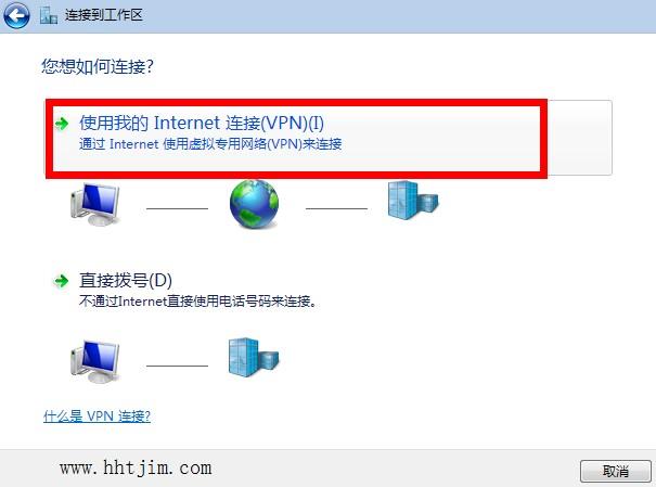 使用我的Internet连接(微PN)
